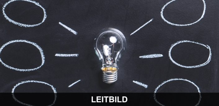 Unterricht - Tafel mit Glühbirne