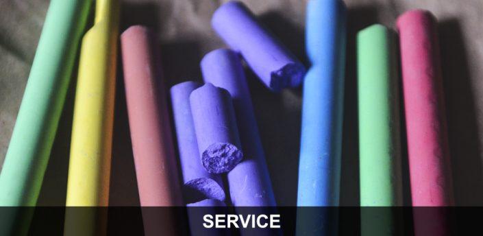 Bewegungserziehung - Kreide in verschiedenen Farben